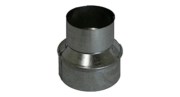Heavy Duty Duct Fittings including increaser/reducers, flue caps & plugs, stand-off brackets, etc.