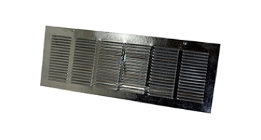 Foundation, soffit, or eave louvered vents with dampers and/or screen in all sizes. Heavier gauge material. Plumbers vent. Galvanized